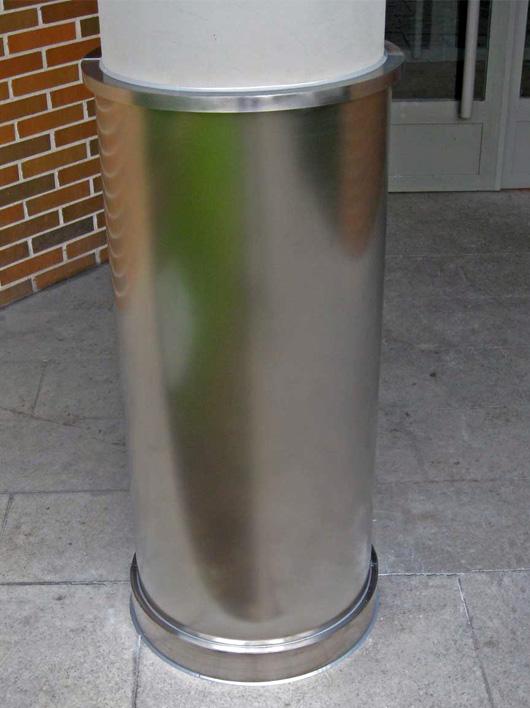 Forro-columna-acero-inxidable-satinado